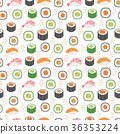 Sushi set seamless pattern. Rolls endless 36353224