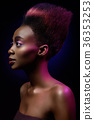 black girl with glamorous hairstyle 36353253