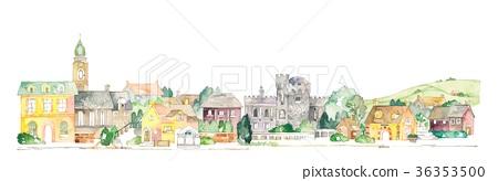 歐洲城市景觀和農村風光 36353500