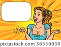 joyful girl, emotions and positive 36356030