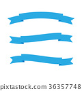 Vector of ribbon or empty blue label isolated 36357748