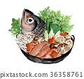 石狩灣火鍋 鍋裡煮好的食物 燉湯 36358761