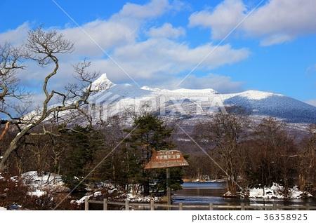 北海道 大沼公園 雪 36358925