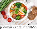 Vegetable soup with chicken 36360655