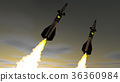 Nuclear missiles. 3D render 36360984
