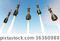 Nuclear missiles. 3D render 36360989