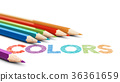 Using Colors, 6 Wooden Pencils Over White 36361659