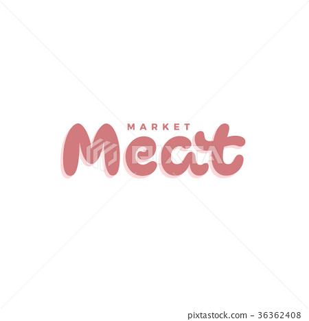 Meat Market vector logo inscription 36362408