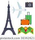 tourism, icon, vector 36362621