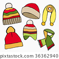 Winter hat, scarves 36362940