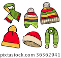 winter clothing icons 36362941