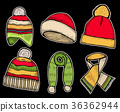 Santa stocking cap and Scarfs. 36362944