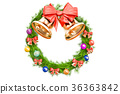 Christmas Holiday Wreath with Christmas Bells 36363842