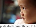 一位亚洲女孩在车上悲伤哭泣 36370116