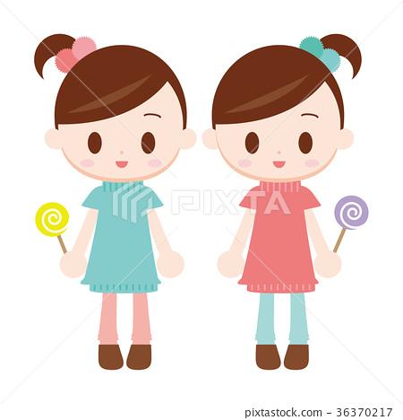 双胞胎中的一人 双胞胎 流行 36370217