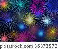 Sparkle of fireworks For New Year. 36373572
