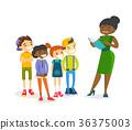 multiethnic, teacher, read 36375003