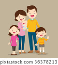 Cute Family with Baby 36378213