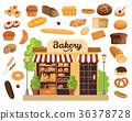 Bakery Products Flat Set 36378728