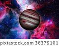 Planet Jupiter. Nebula on the background. 36379101