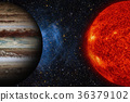Solar System - Jupiter. It is the largest planet 36379102