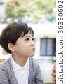 兒童,男孩,牛奶,喝酒 36380602