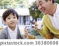 祖父,孫子,食物 36380698