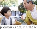 祖父,孫子,食物 36380737