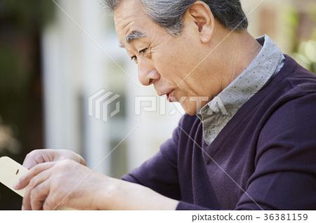 남자,노인,한국인 36381159