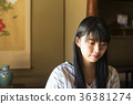 젊은 여성 일본식 36381274