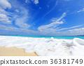 푸른, 하늘, 해변 36381749
