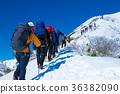 在冬天爬上天神山脊的登山者(Take Tanigawa) 36382090