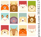 Set of banners with cute animals 36382217