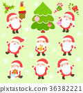 Collection of cute Santa Clauses 36382221