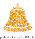 christmas bell dotted vector isolated  36384832