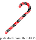 candy, cane, icon 36384835