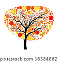 Autumn tree vector isolated on white background 36384862