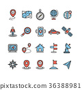icon vector navigation 36388981
