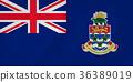 Cayman Islands waving flag 36389019