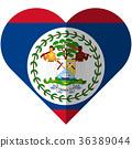 Belize heart flag 36389044