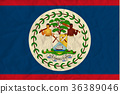 Belize paper flag 36389046