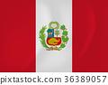 Peru waving flag 36389057
