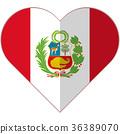 Peru heart flag 36389070