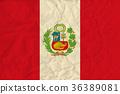 Peru paper flag 36389081