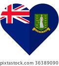 Virgin islands heart flag 36389090