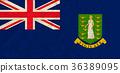 Virgin islands paper flag 36389095