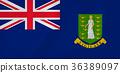 Virgin islands waving flag 36389097