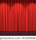 Red stage curtains 36389886