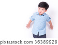portrait of a cute little asian child on white background 36389929