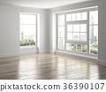 Interior empty room 3D rendering 36390107